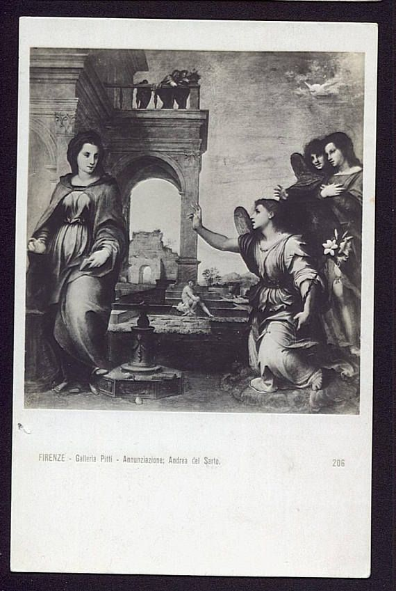 Annunciation del Sarto Christian Postcard Religious