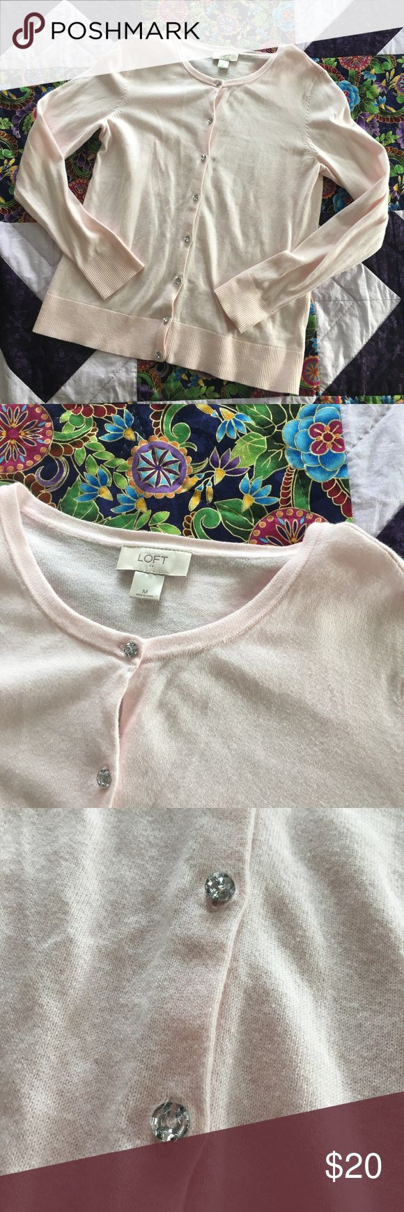 LOFT Cardigan In very good condition, no flaws. Buttons have jewels on them. From the factory store. LOFT Sweaters Cardigans