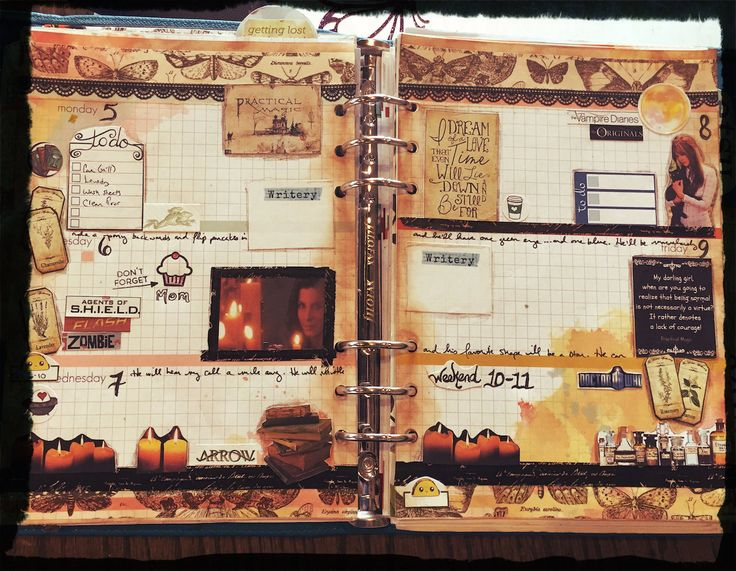 Blog post at diannesylvan.com - a Practical Magic-themed weekly planner spread.