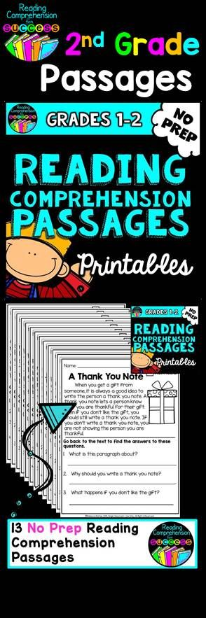 2nd Grade Reading Comprehension Passages