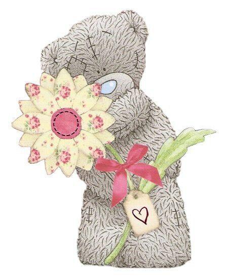 Мишка тедди картинка с цветами
