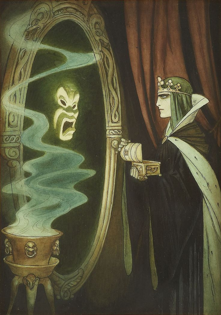 Gustaf+Tenggren-Queen+and+the+Magic+Mirror,+mixed+media+on+paper,+1938.jpg (1121×1600)