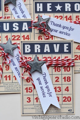 Paper Issues: Military Thank You Cards.....adding to gift bagz