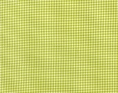 Tiny gingham in lime - Michael Miller