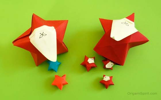Origami Santa Claus -It's a Star and a Christmas Box Too! post image