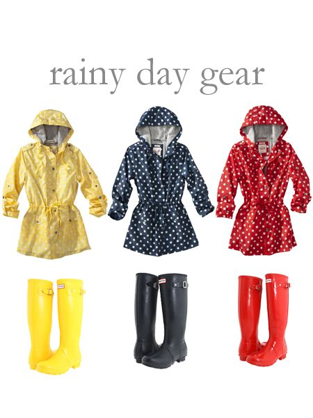 College Prep: Rainy Day Gear. Love! Link to a blog, and to target where you can buy these cute rain jackets.
