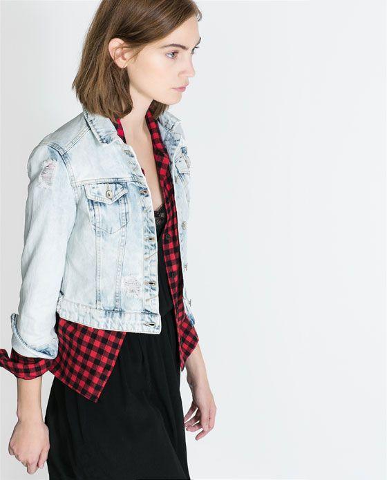 Zara jeansjacke totenkopf
