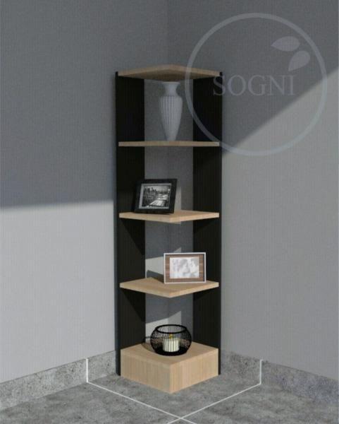 Mueble Esquinero Moderno De 5 Estantes Combinaci 243 N De
