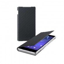 Forro Sony Xperia Z2 Made for Xperia Standing Book Case Carbon Negra  $ 49.400,00