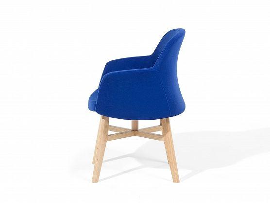 Fauteuil donkerblauw - oorstoel - relaxfauteuil - tv-stoel - stoffen fauteuil - YSTAD