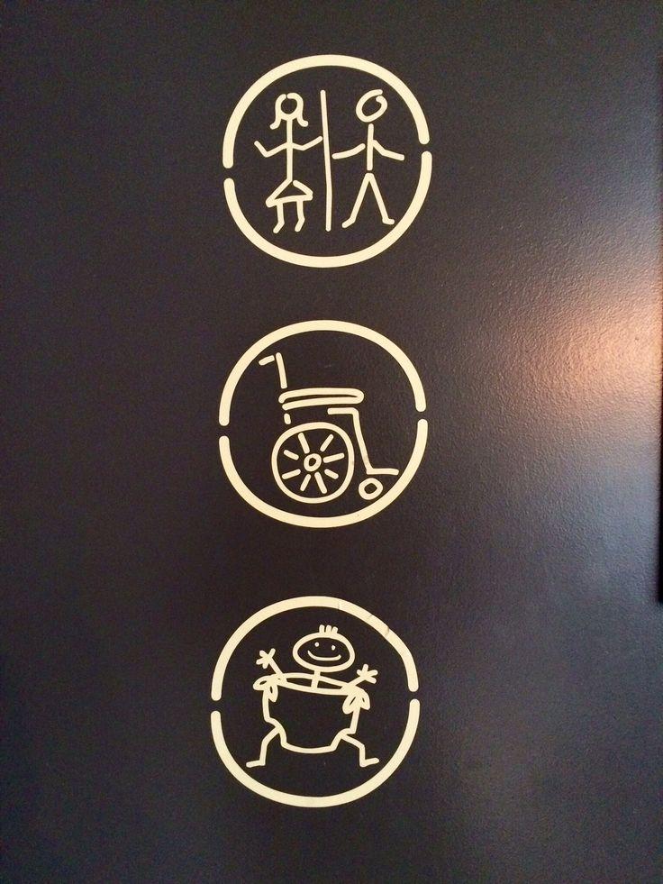 #cartel de baño del Starbucks de #Berlin