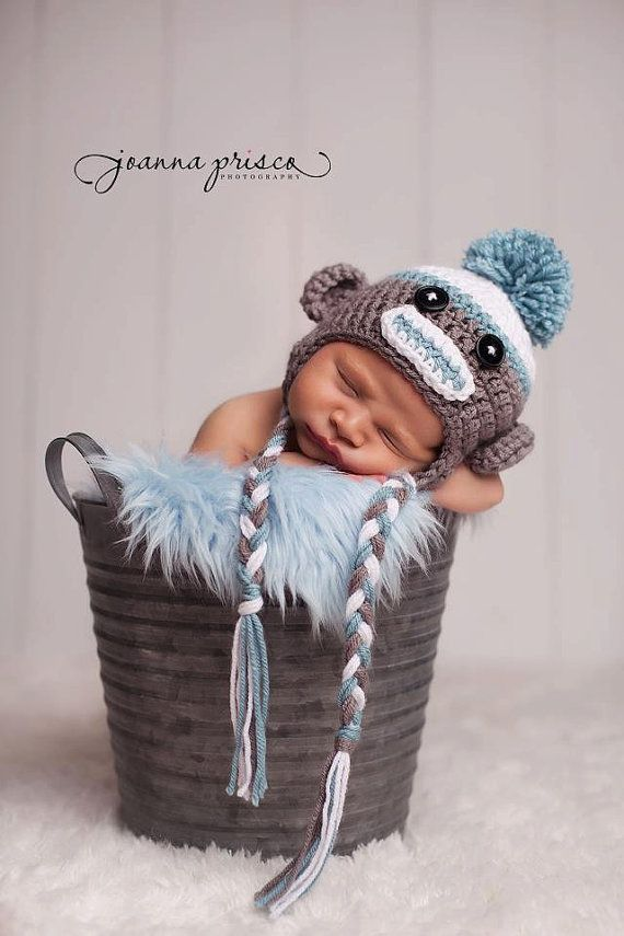 SOCK MONKEY HAT / Crochet Sock Monkey Hat by cherlynnephotography, $19.00