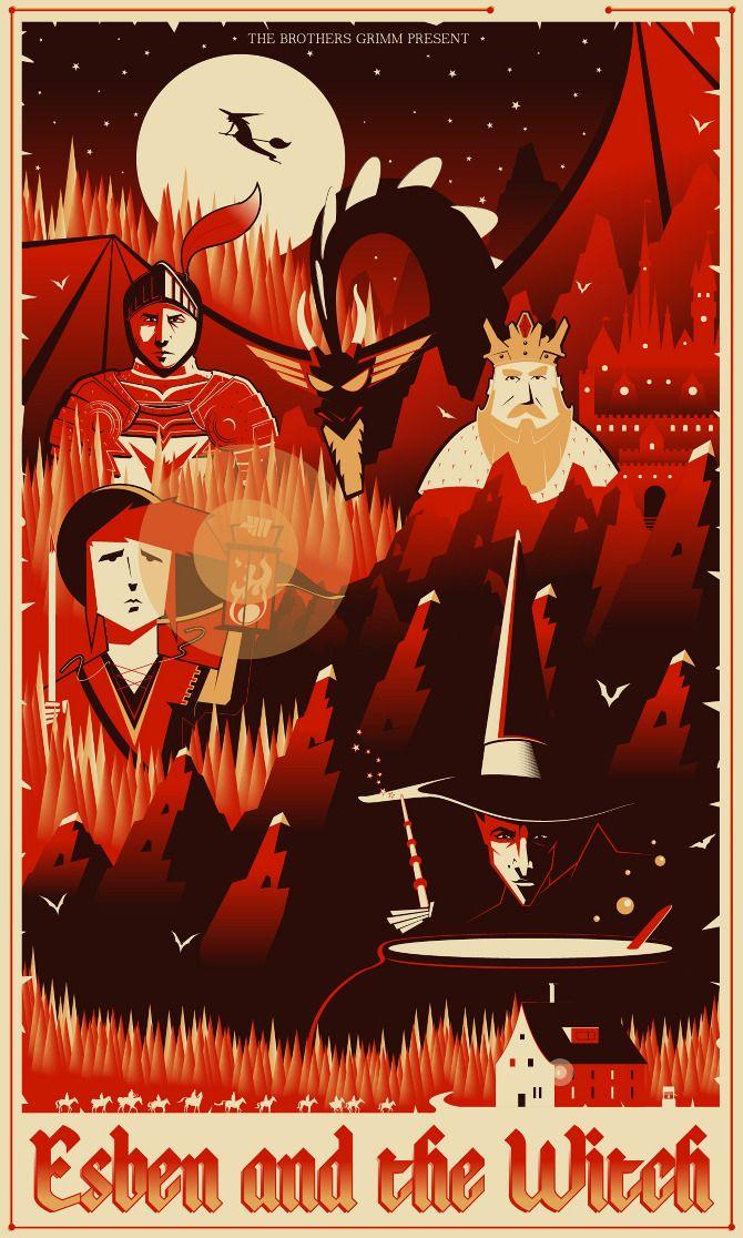 Esben and the Witch - Marinko Milosevski Illustration and Design