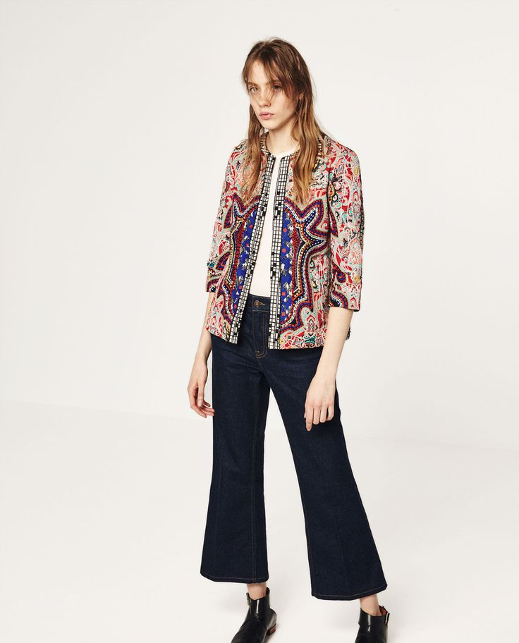 ZARA - WOMAN - EMBROIDERED JACKET