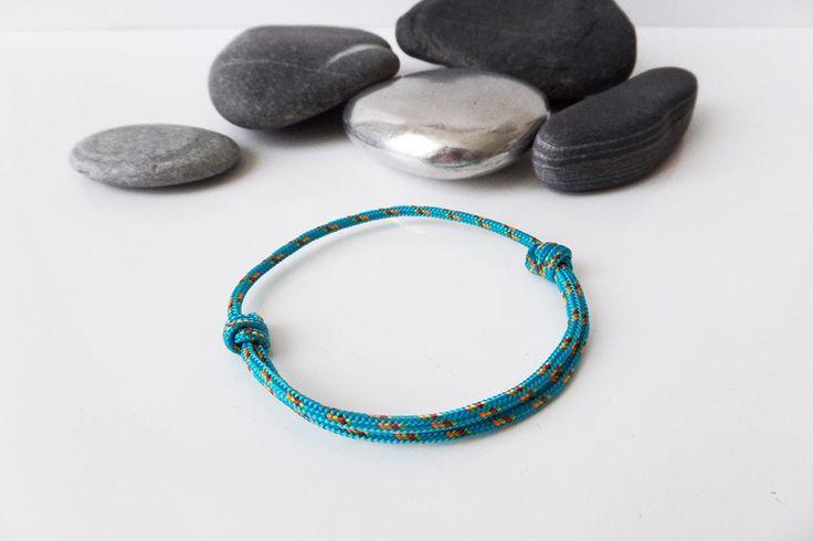 Bracelet nautique corde drisse TURQUOISE Bracelet porte bonheur femme homme Bracelet marin été 2017 Bracelet TURQUOISE Bateau Escalade Mode de la boutique BBSdeParis sur Etsy