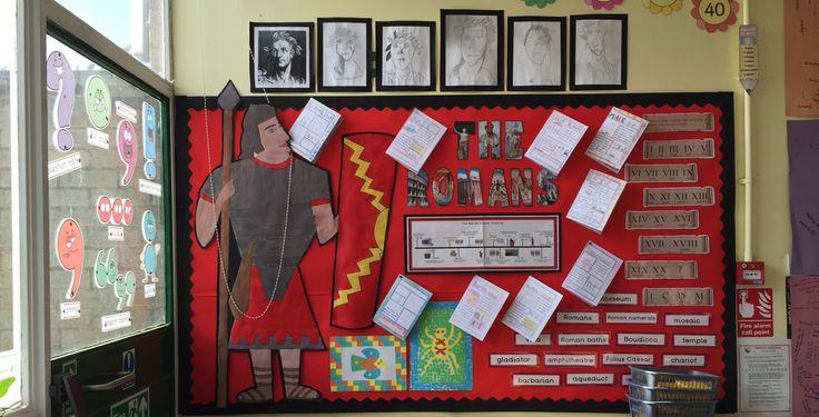 The Romans ks2 classroom display