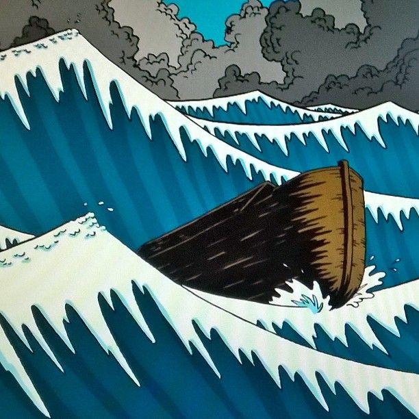 """Noah's Ark - original drawing, taken from """"Aan Tafel Bijbel"""" by Willemijn de Weerd, illustrated by me, published by Ark Media, the Netherlands"""