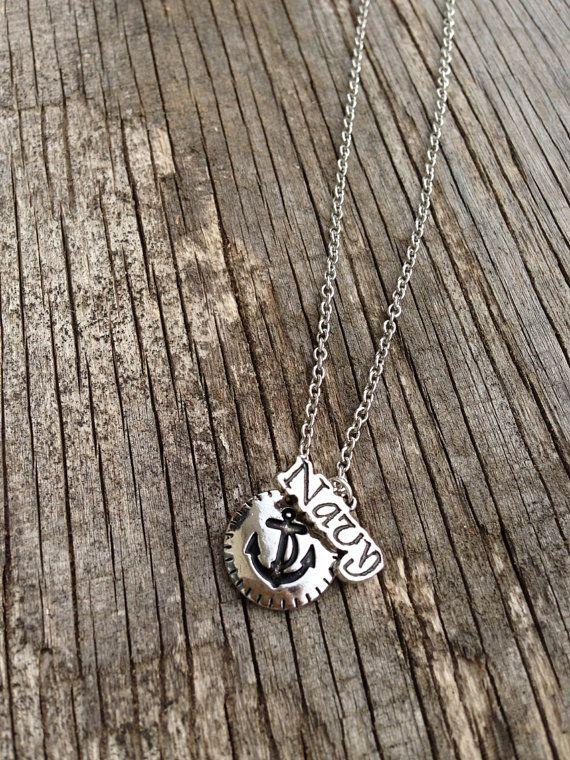 U.S. Navy necklace / Navy Wife / Navy Mom / Navy by CADETcouture, $18.50