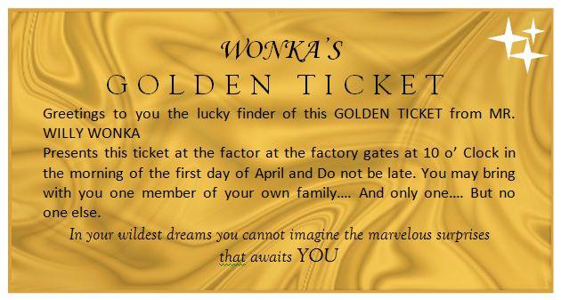 golden ticket template yw 39 s fun pinterest. Black Bedroom Furniture Sets. Home Design Ideas
