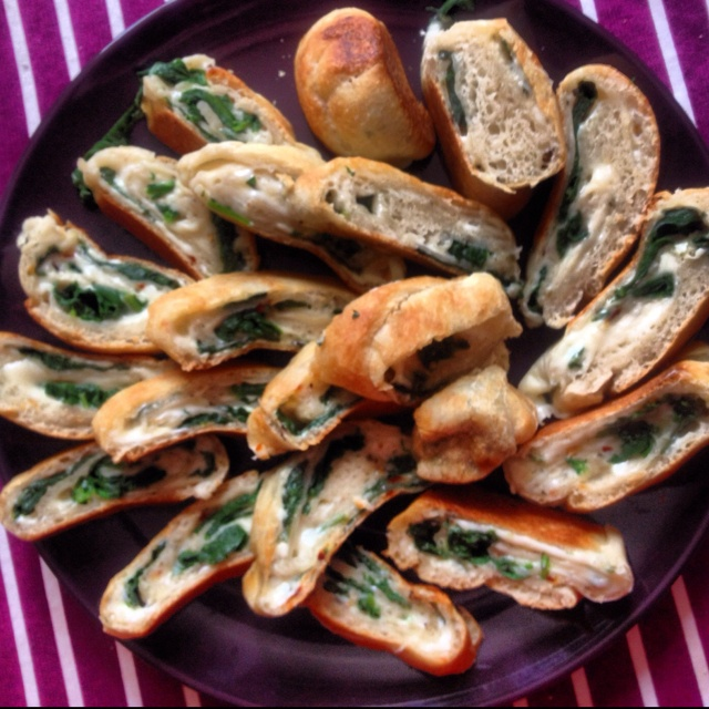 home made spinach bread