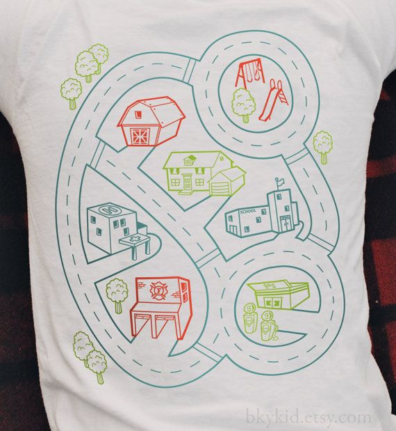 Size L  Car Play Mat T Shirt  Playtime for Kids Back di bkykid, $22.00