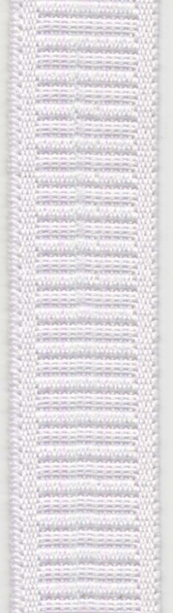 Polyester Flat Non-Roll Elastic 1in x 50yds White - 70% polyester / 30% rubber. Use for waistbands on all types of garments.