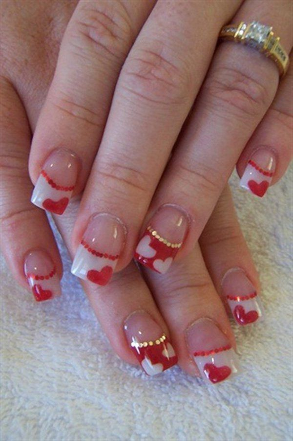 Best 25+ Heart Nails Ideas On Pinterest | Heart Nail Art, Simple Nail  Designs And Simple Nails