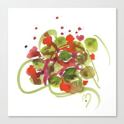 Atom Flowers #38 Stretched Canvas by Marina Kanavaki - $85.00