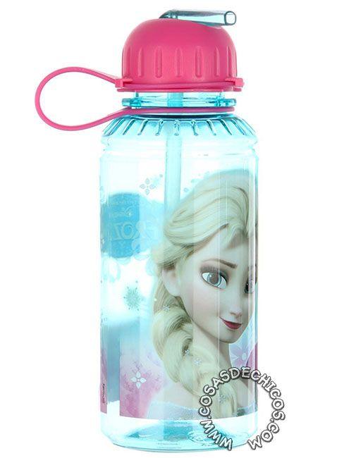 #Cantimplora #Tritan #Frozen #Licencia #Oficial #Disney #CosasDeChicos #Chicas #Elsa #Anna Con sistema de cierre anti derrame. Dibujo impreso, con recubrimiento de laca para mayor durabilidad. Material flexible, resistente a los golpes y caídas. Capacidad: 450 cm3.