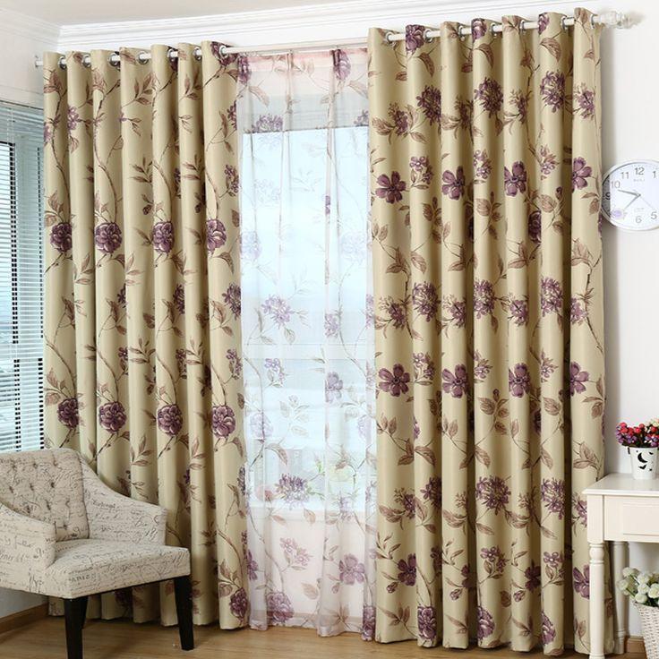 Мода печатных плотные шторы для гостиной Цветочные Роскошные номер гардина для спальни обработки окна/шторы