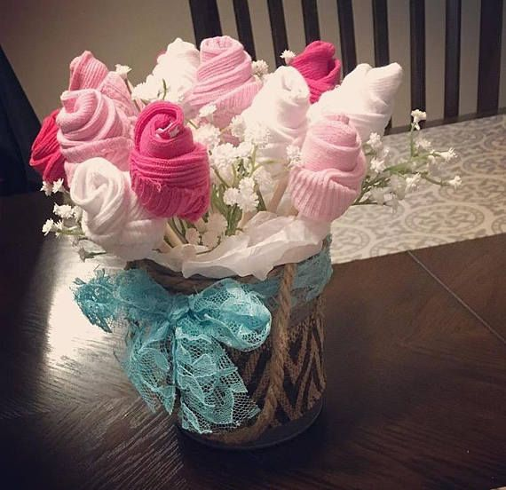 Welcome baby gift Baby sock bouquet