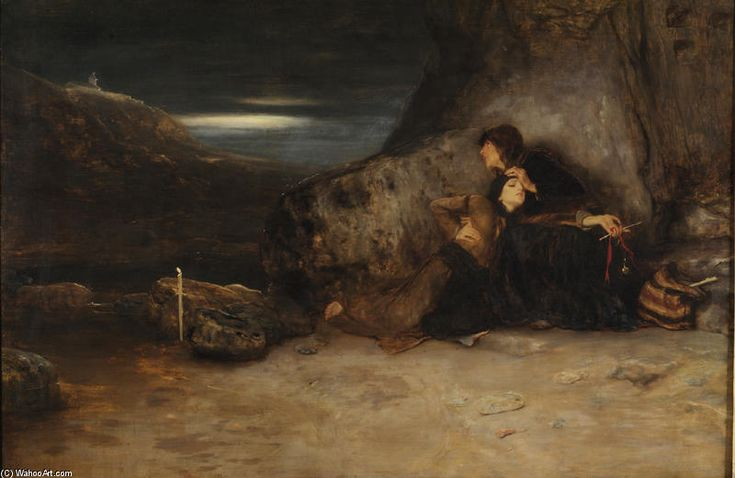 The vow, 1886 by Nikolaos Gyzis (1842-1901, Greece)