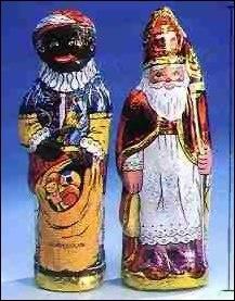 Chocolade Sint & Piet figuren, voor ieder kind een paar.