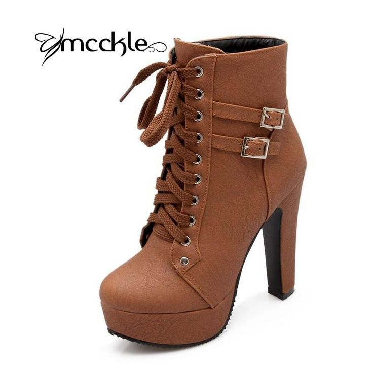 Women's Genuine Leather Floral Upper High Heel Lace Up Ankle Boots