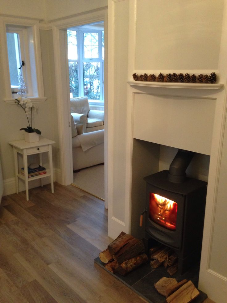 Charnwood C4 Woodburner and karndean flooring