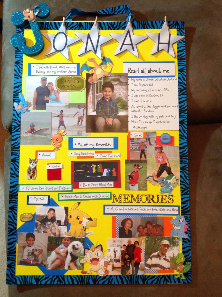Star student poster idea, created for my son! Kindergarten. I love it! I think it came up pretty!