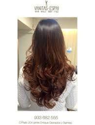 Resultado de imagen para balayage cabello castaño rojizo