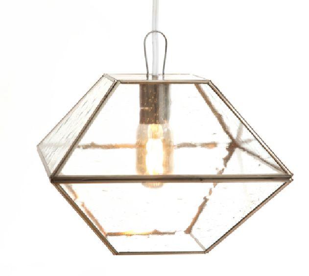 lampara en encuañuelado con vidrio de burbuja. LUMIKA DESIGN