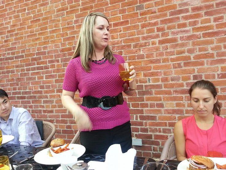 Toronto Chair Jamie making a toast to everyone