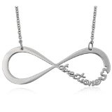 Stainless Steel INFINITE DIRECTIONER Necklace 6.7 Grams