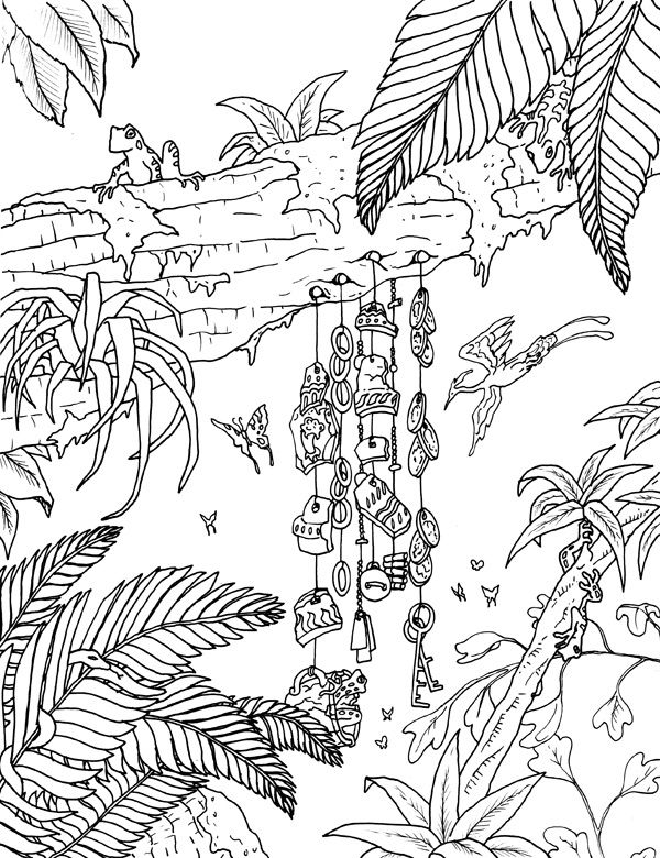 Amazon Jungle Coloring Pages