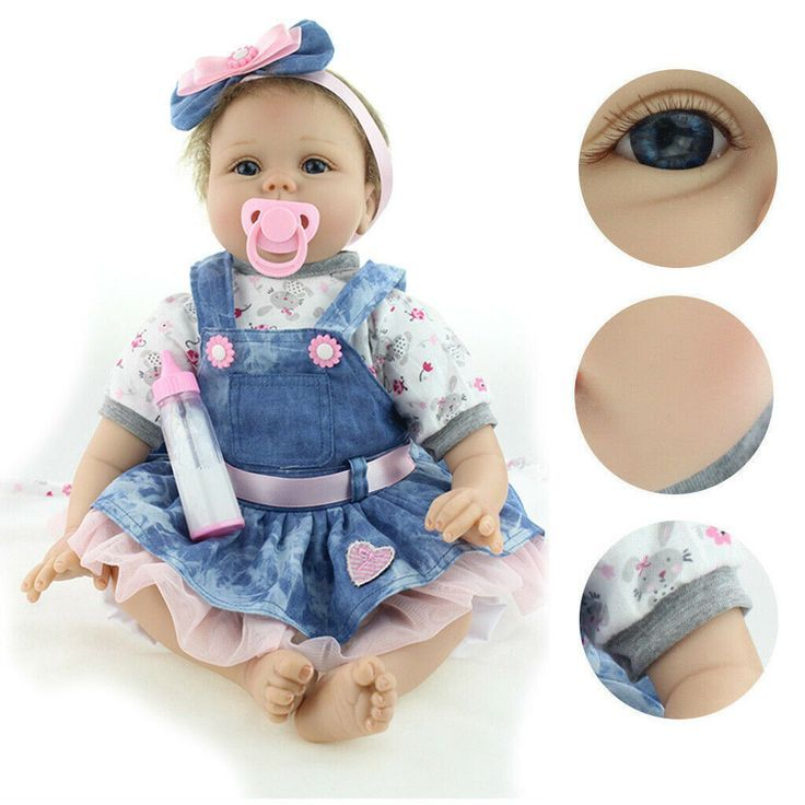 PRINCESS  REBORN BABY GIRL 11 INCH SOLID VINYL BABY GIRL WITH MAGNETIC PACIFIER