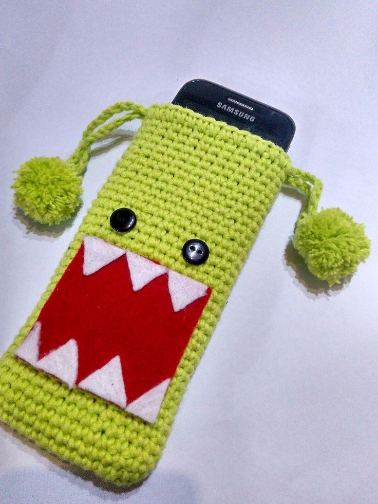 Domo-kun pouch crochet