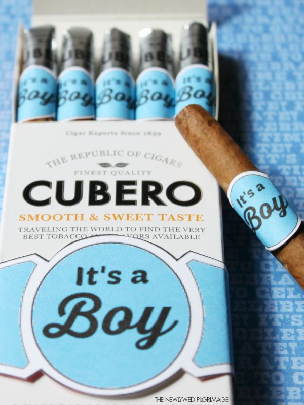 """""""It's a Boy"""" New Baby Cigar Labels - Free Printables"""