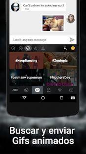 Kika Teclado - Emojis, GIF: miniatura de captura de pantalla
