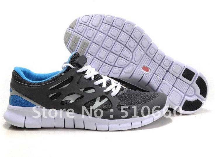 Cheap Discount Mens Nike Free Run 2 Gray Blue Shoes Running Shoes Shop