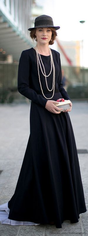 I would/will dress like this every day. Street Style With Pearls | Milan Fashion Week | The House of Beccaria#