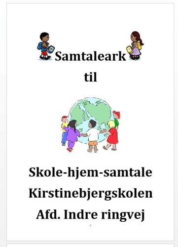 Samtaleark til skole/hjem
