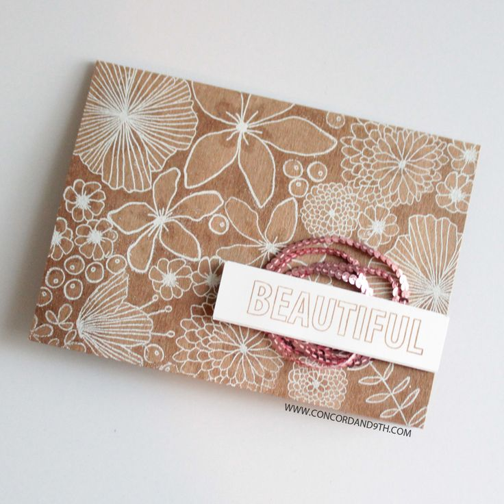 Beautiful Words & Wildflower stamp sets by Concord & 9th