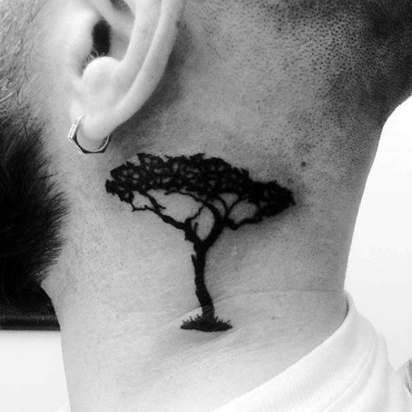 Tattoos kleine männer hals 50 kleine